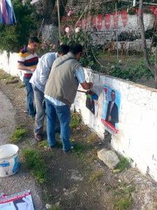 Chp'li gençlerin bayrak - afiş çalışmaları (4)