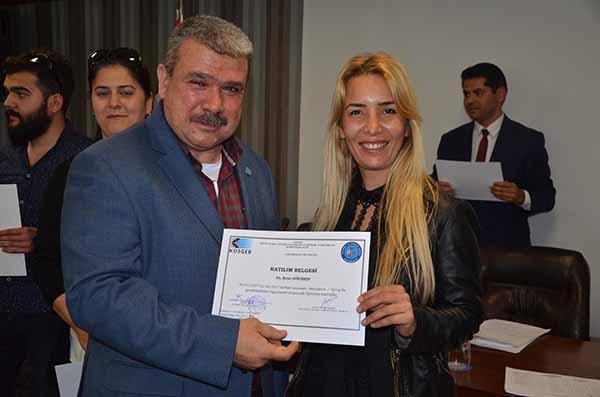 İTSO'da Kurslarını tamamlayan Girişimcilere sertifikaları dağıtıldı
