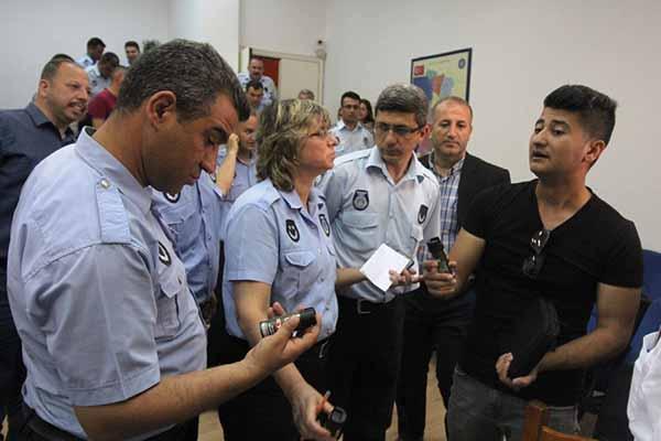 İskenderun Belediyesi Zabıtalara Biber Gazı Eğitimi