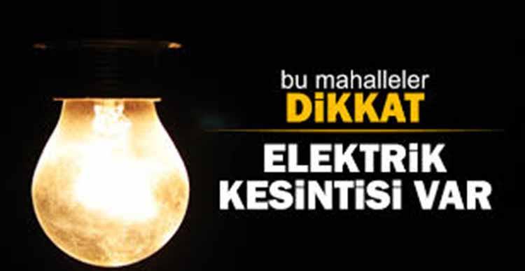 Hatay'da Cuma , Cumartesi ve Pazar Günü Elektriklerin Kesik Olacağı Yerler Açıklandı