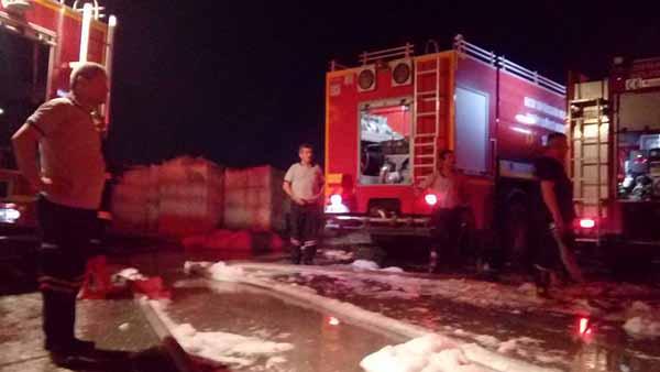 Fabrikada Çıkan Yangına Anında Müdahale