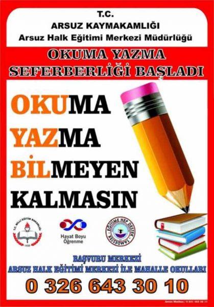 """Arsuz'da """"Okuma-Yazma Seferberliği"""" toplantısı gerçekleşti"""
