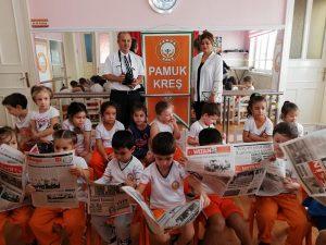 Gazeteci Seher Pamuk Öğrencilerine Gazetecilik Mesleğini anlattı