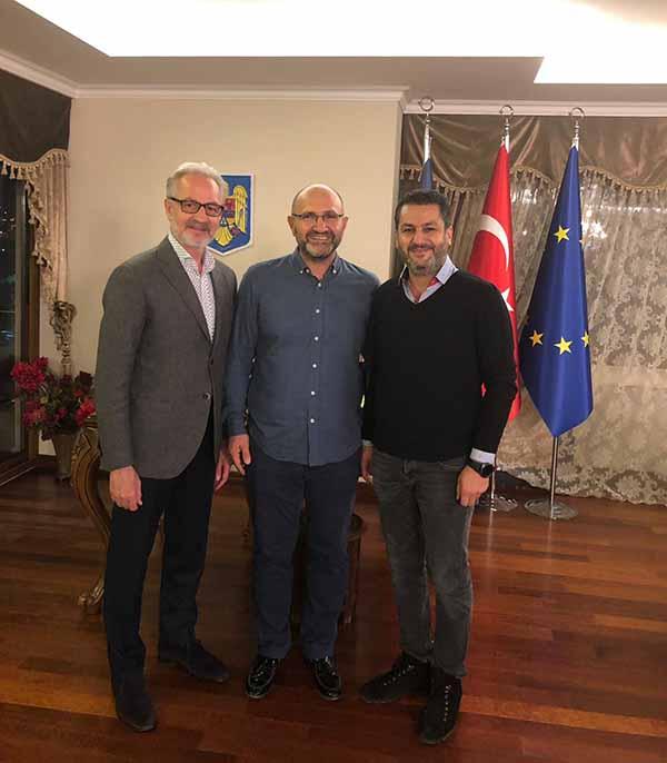 İTSO yönetimi, Liyakat ödülü alan Romanya Fahri Konsolosu Rende'yi Ziyaret Etti