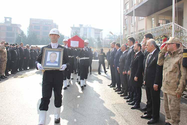 Hatay Asayiş Şube Müdürü Mustafa Ateş, Son Yolculuğuna Uğurlandı