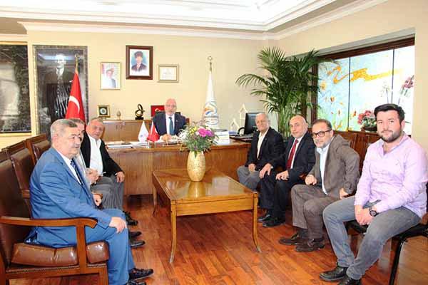 Belediye Başkanı Tosyalı'ya Tebrik Ziyareti Devam Ediyor