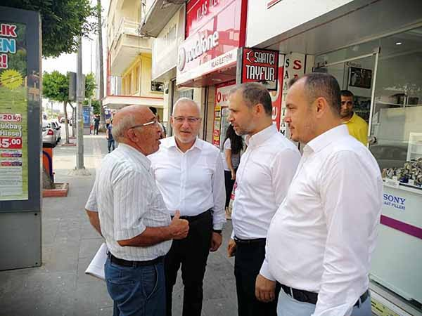 Başkan Tosyalı Ve Milletvekili Özel'den Esnaf Ziyareti