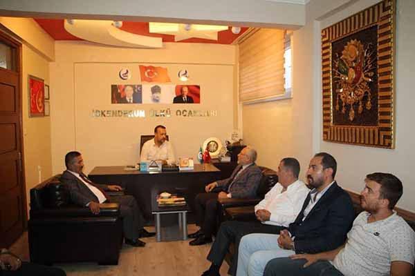 Başkan Fatih Tosyalı'dan Mhp Ve Ülkü Ocaklarına Ziyaret