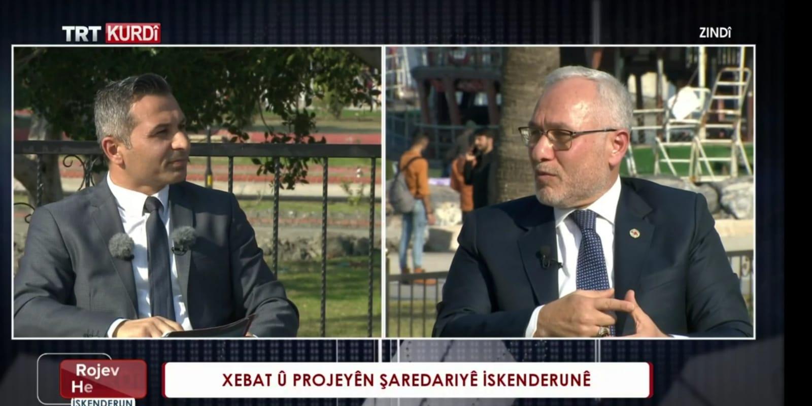 İskenderun Belediye Başkanı Fatih Tosyalı, TRT Kurdî'ye Konuk Oldu