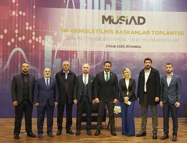 MÜSİAD Hatay Şube Yönetimi Genişletilmiş Başkanlar Toplantısına katıldı