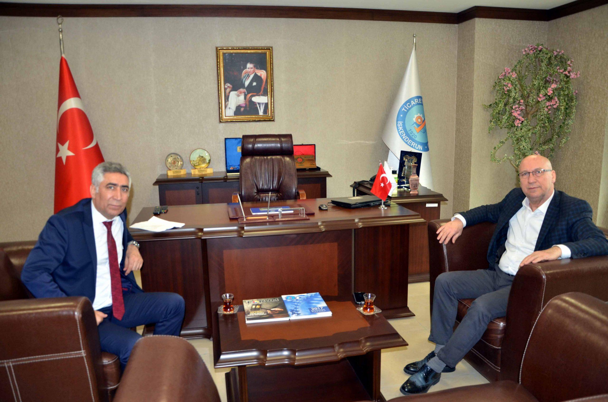 PTT İskenderun Merkez Müdürü Latif Sezer İTSO'ya nezaket ziyaretinde bulundu