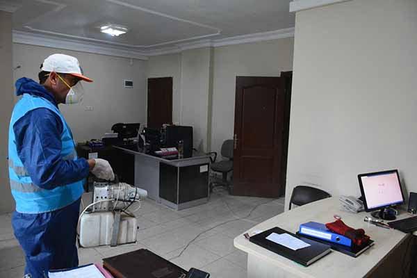 Arsuz'da Koronavirüs İlaçlaması Başladı