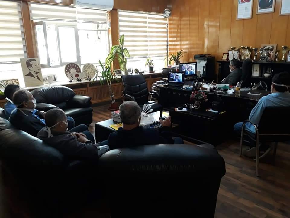 İskenderun Mesleki ve Teknik Anadolu Lisesi müdürü Yusuf Yıldırım Milli Eğitim Bakanı Ziya SELÇUK ile görüştü