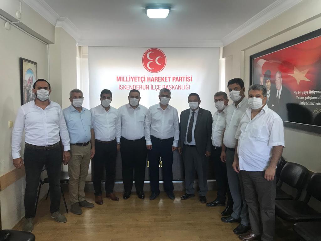 Özçelik iş sendikasından İskenderun CHP ve MHP İlçe başkanlarına Ziyaret