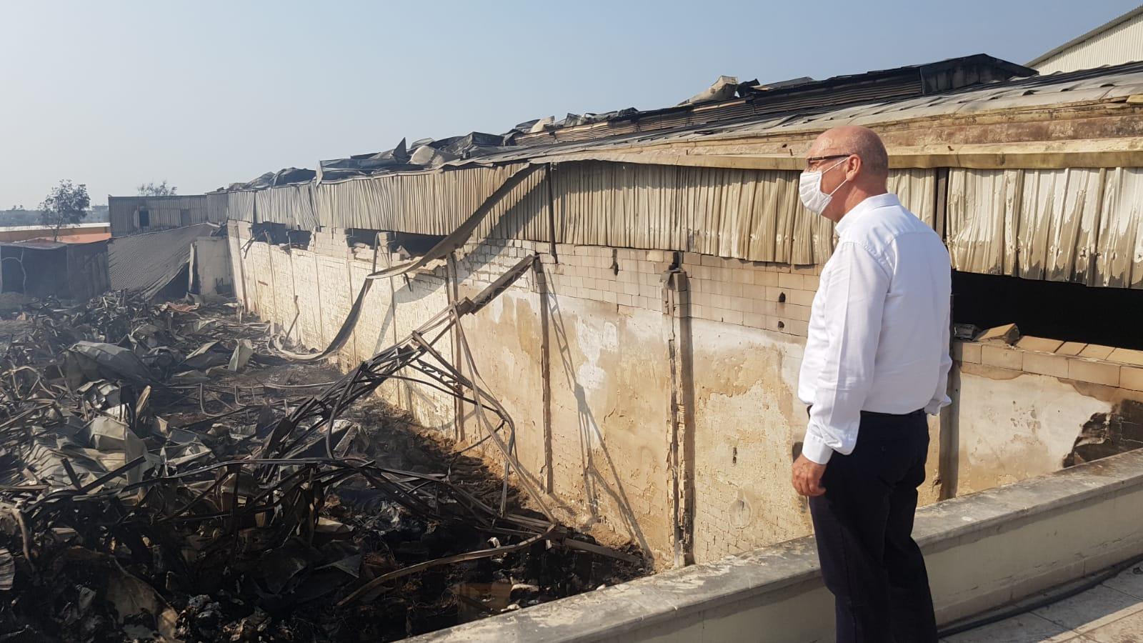 İTSO Başkanı Yılmaz ve Başkan Yardımcısı Yeter Yangında Zarar Gören üyeleri ziyaret etti
