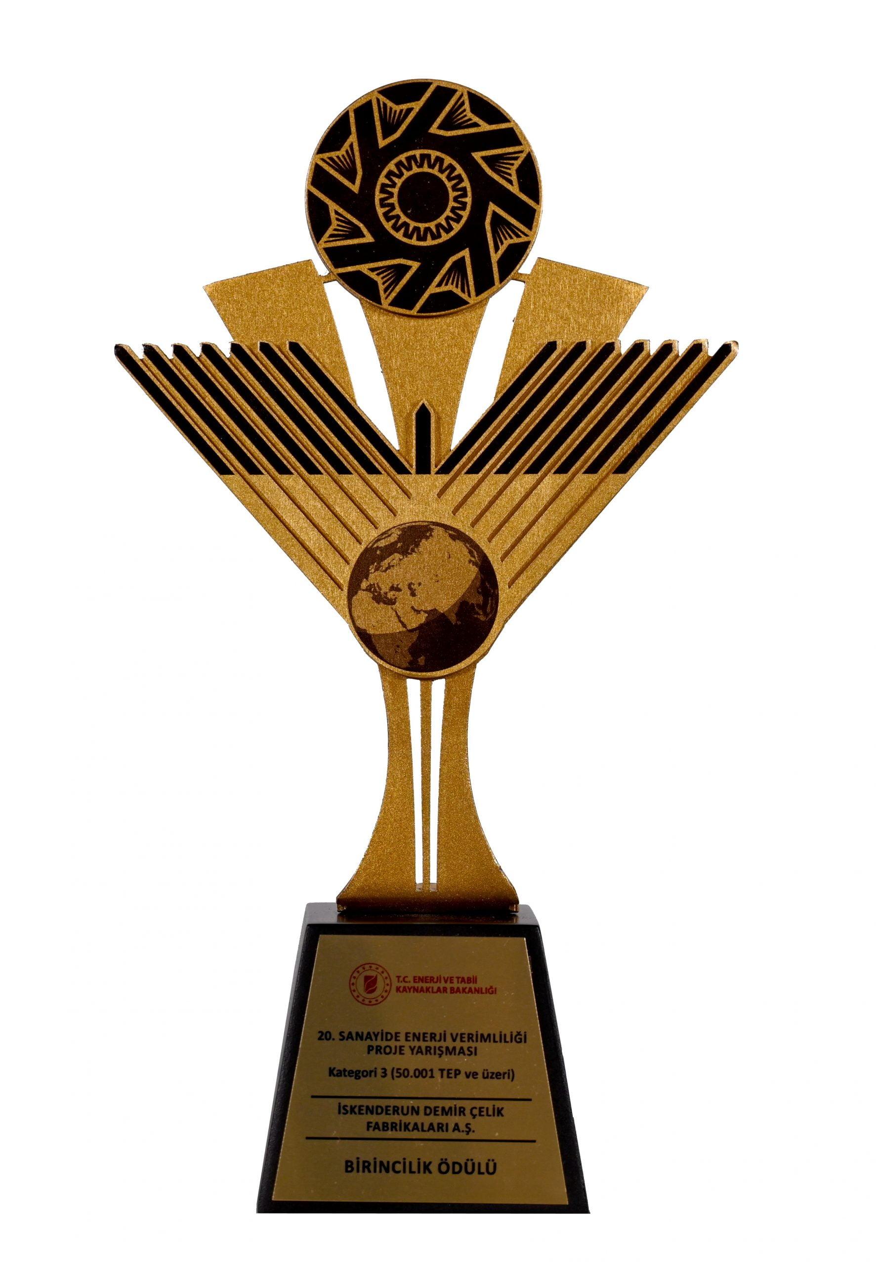 Kaynaklarını ve enerjiyi verimli kullanan İsdemir'e birincilik ödülü