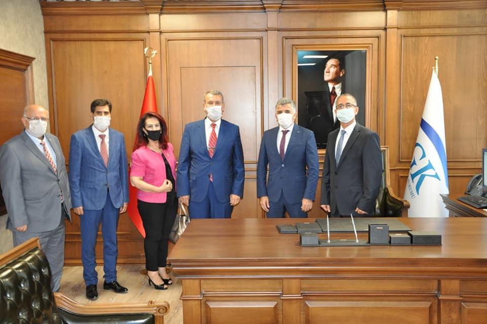 Muhasebeciler Odası Sgk İl Müdürü Hamit Bal Ve Hatay Vergi Dairesi Başkanı Cemil Müsevitoğlu'nu Ziyaret Etti