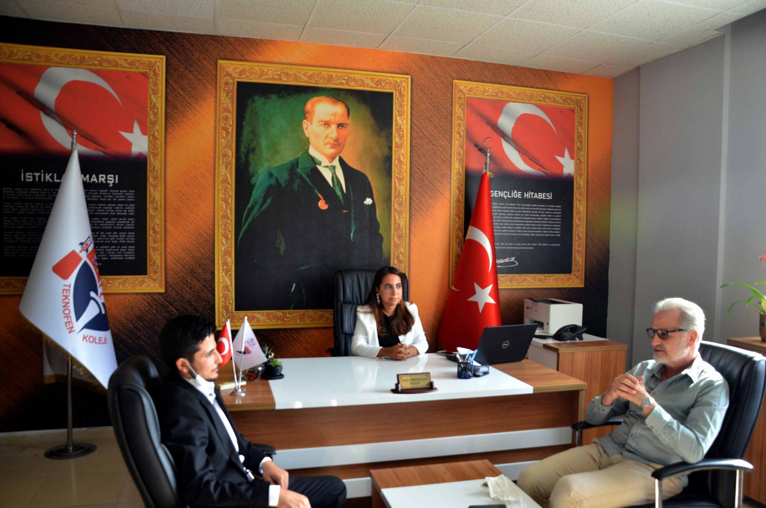 İTSO Başkanı Yılmaz Özel Teknofen Mesleki ve Teknik Anadolu Lisesini Ziyaret Etti