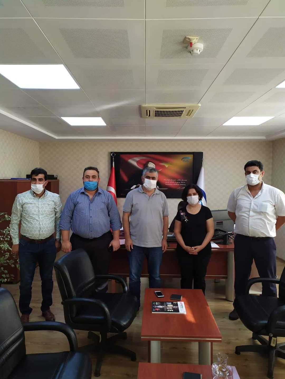 Özçelik-İş sendikası İskenderun Şube yönetiminden SGK İskenderun ilçe müdüresine ziyaret