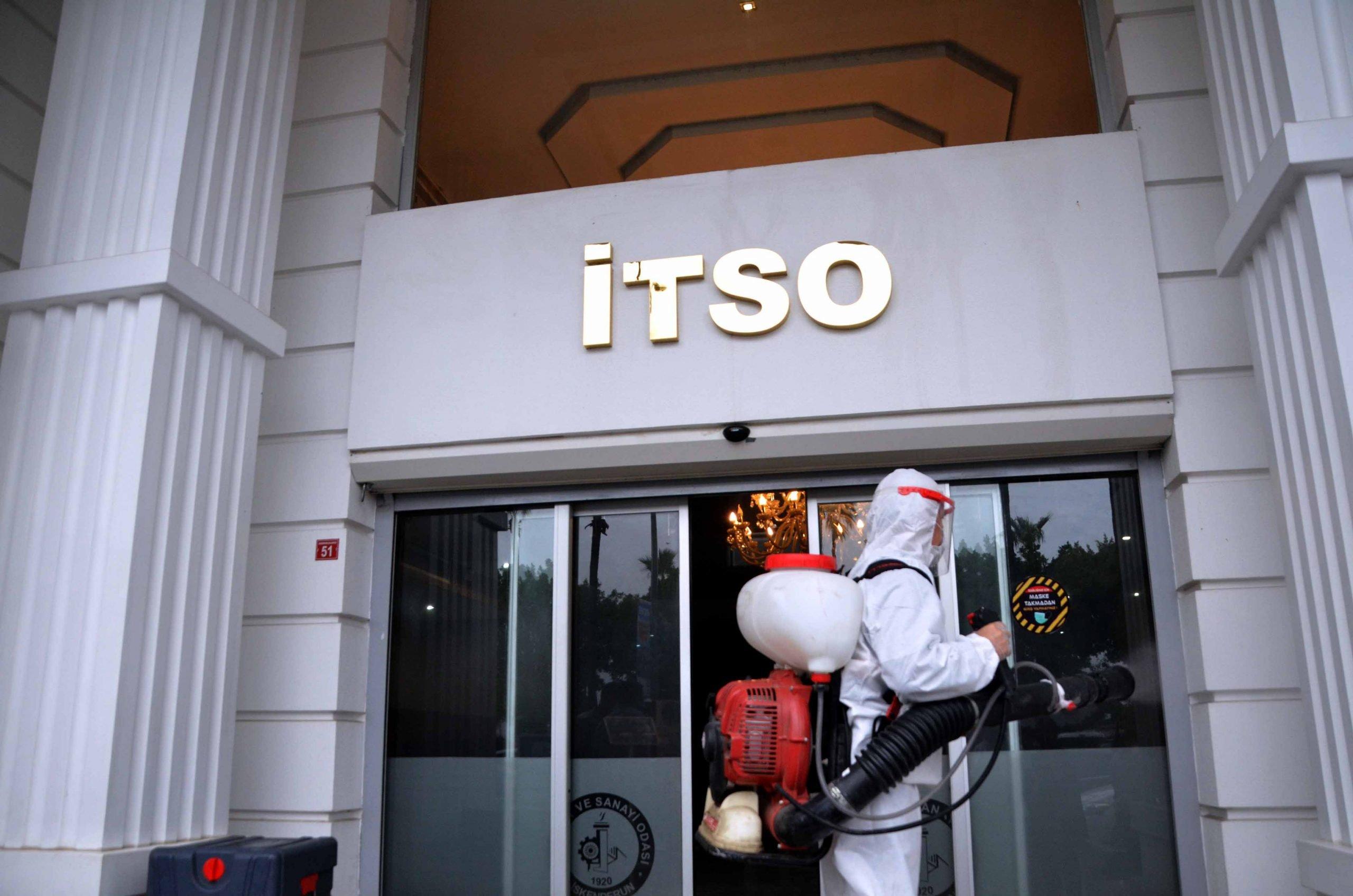 İTSO'da Dezenfeksiyon ve Sterilizasyon Çalışmaları Gerçekleştirildi