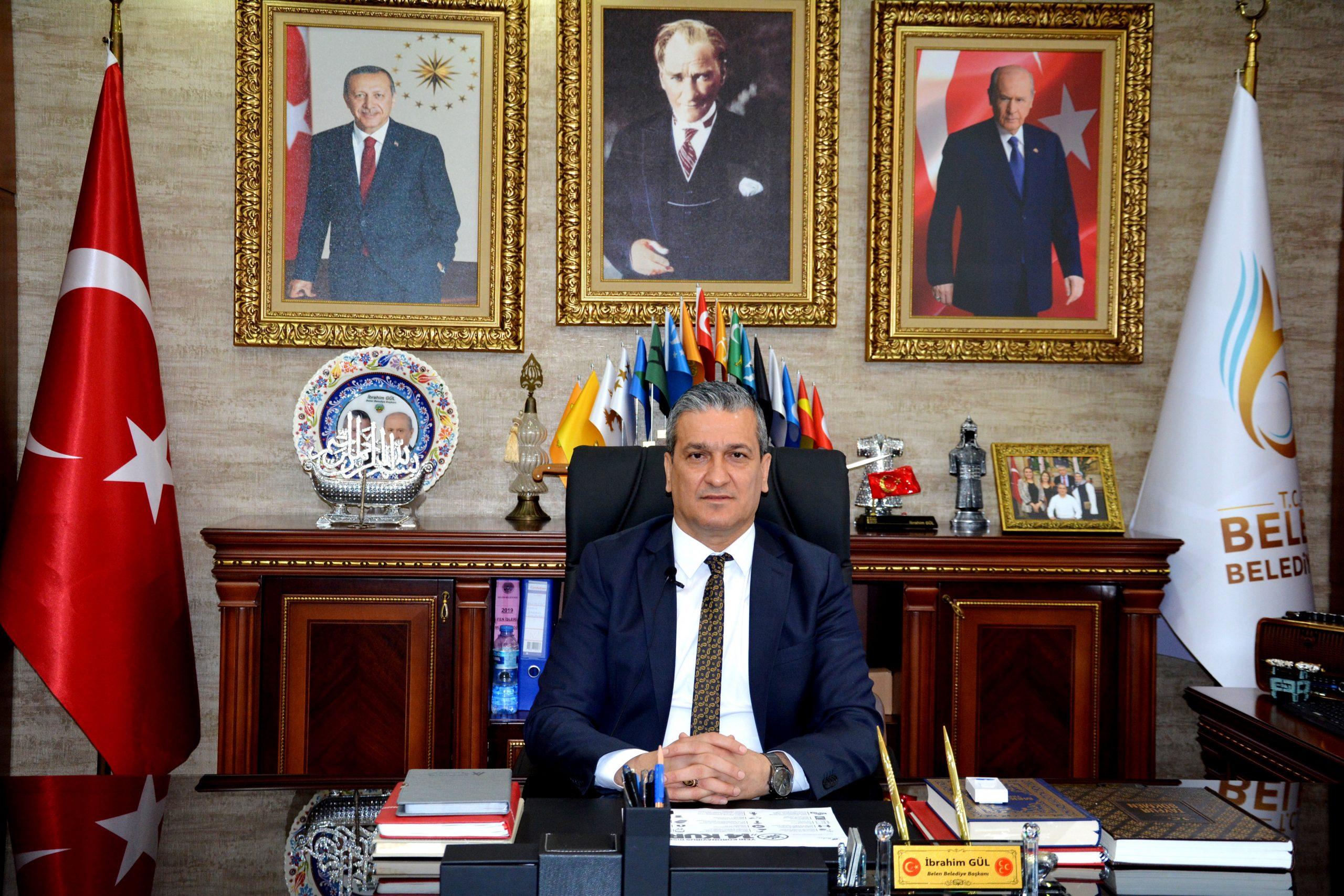 Belen Belediye Başkanı İbrahim Gül; Göreve geldiği günden bu yana yaptığı çalışmaları değerlendirerek, Belenli hemşerilerine seslendi