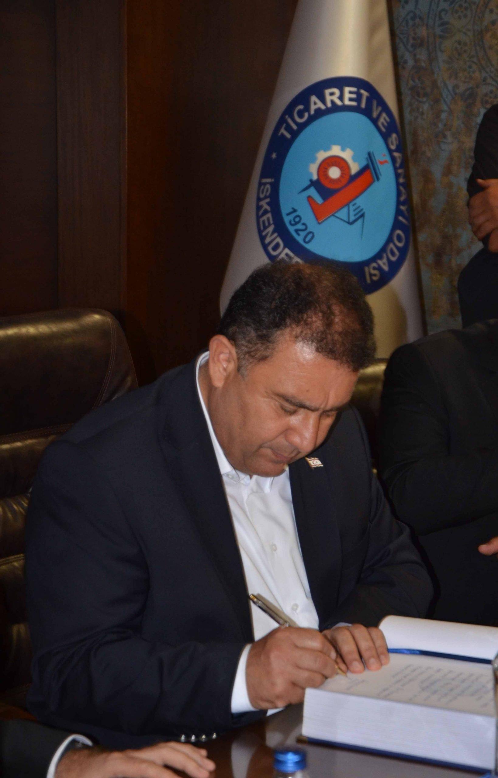 Kuzey Kıbrıs Türk Cumhuriyeti Başbakanı  Ersan Saner, İskenderun Ticaret ve Sanayi Odasını ziyaret etti
